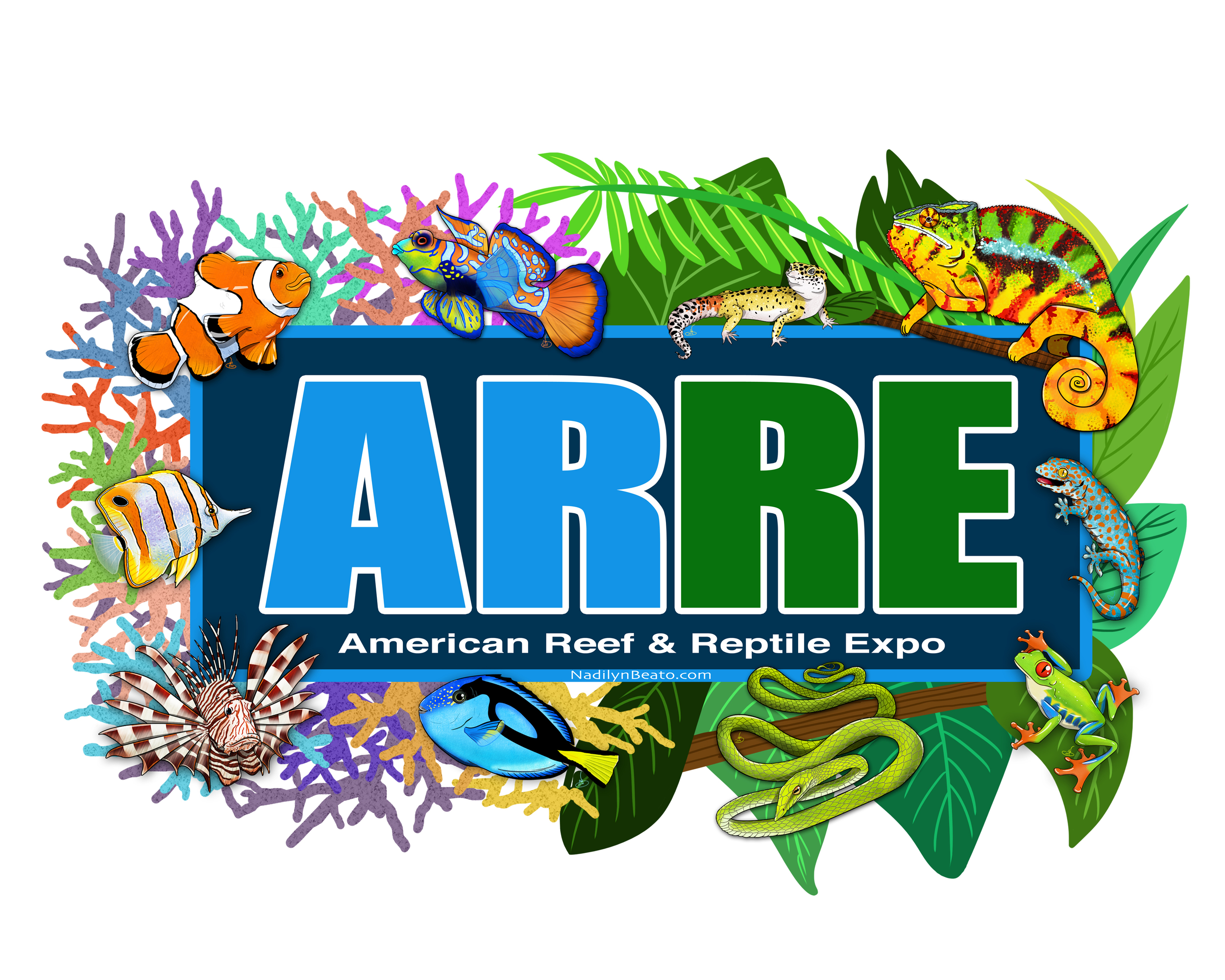 Sticker Design for the American Reef & Reptile Expo