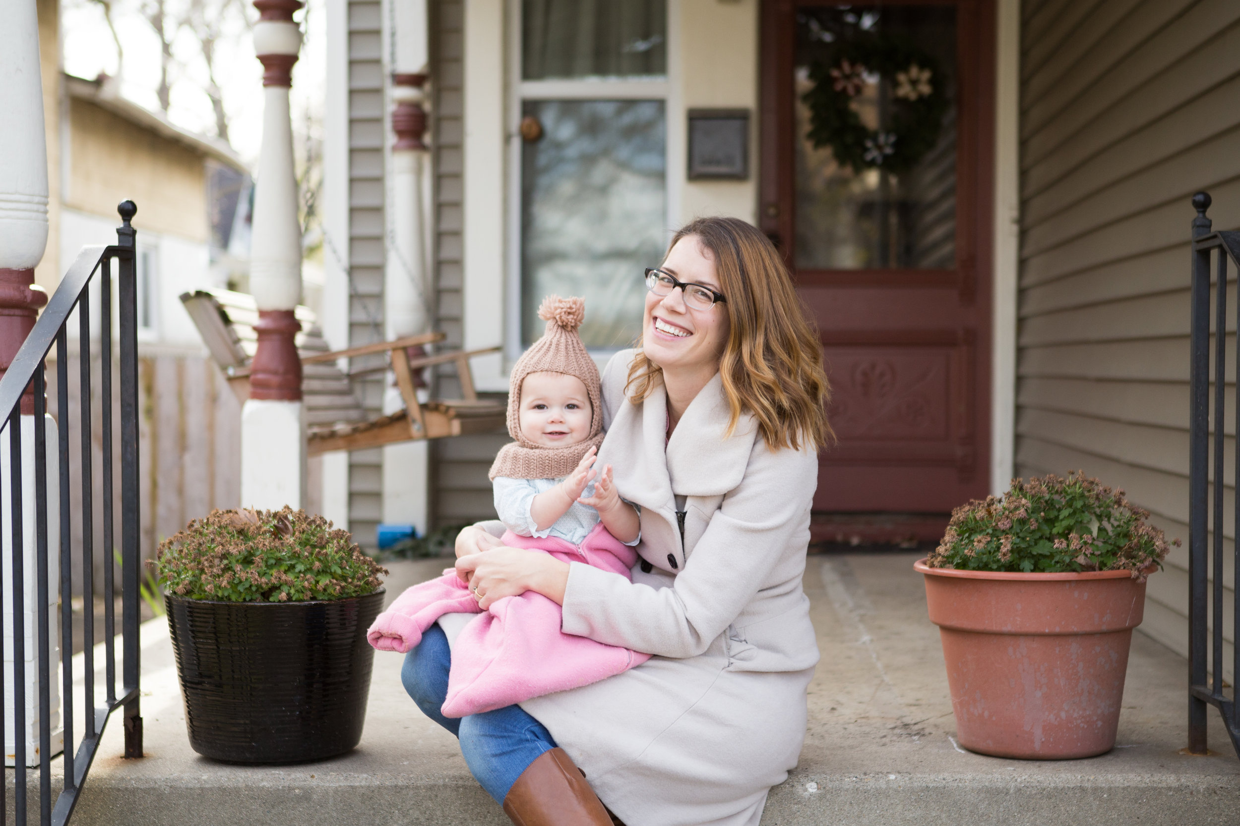 with my tiny assistant and most darling cheerleader; photo by  Melissa Williams