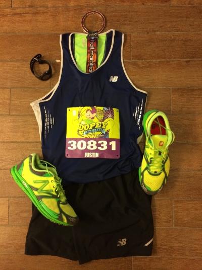 Half marathon setup.