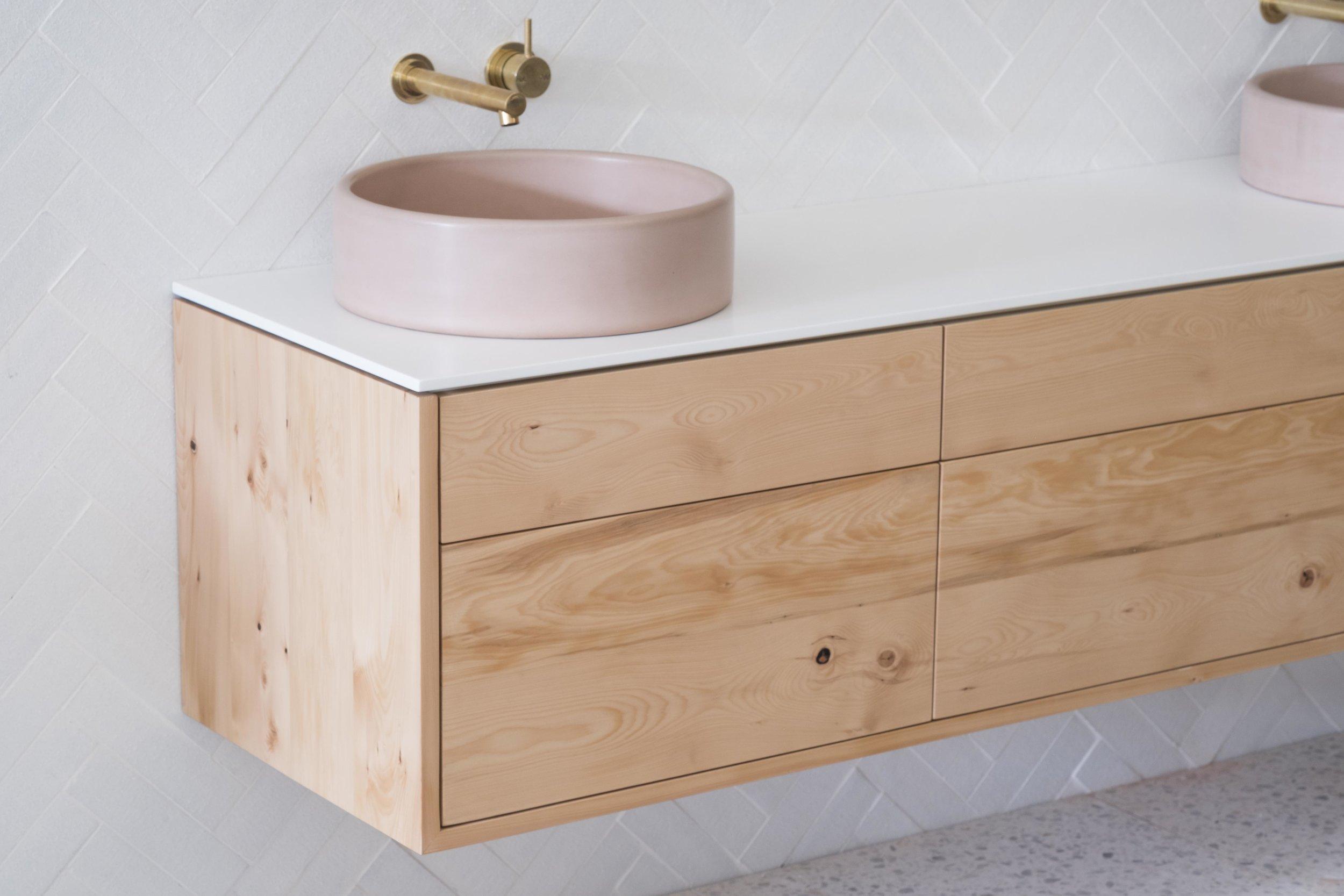 Stone Wood Bathroom Vanity Ingrain