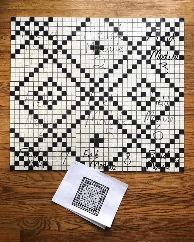 Just got in our custom designed tile pattern from @heritagetile for our Swiss Ave remodel! Can't wait to get these installed 💕