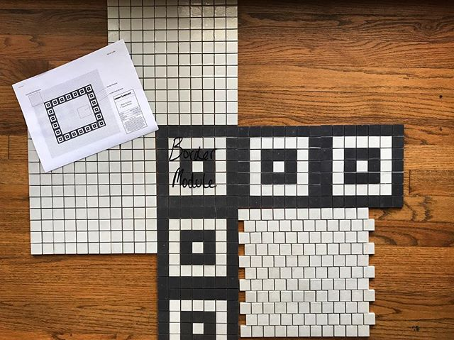 More custom tile for our Swiss Ave remodel- this layout is for a kid's bath that doubles as the guest bath, so we wanted to be practical with the design, but not short on style ▪️▫️▪️▫️▪️▫️▪️ @heritagetile