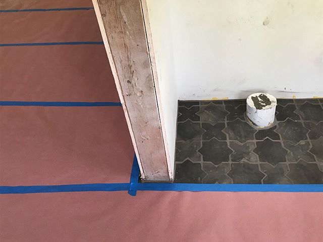 Flooring installation at our Hollywood Heights remodel is underway- so far, so good! Cant wait for the star tile to go in 🤩