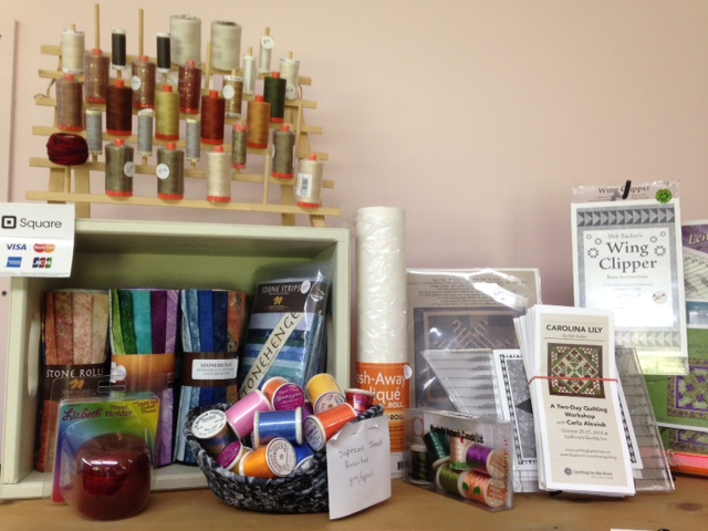 Carla's small retail selection includes all studio 180 rulers, patterns, and technique sheets