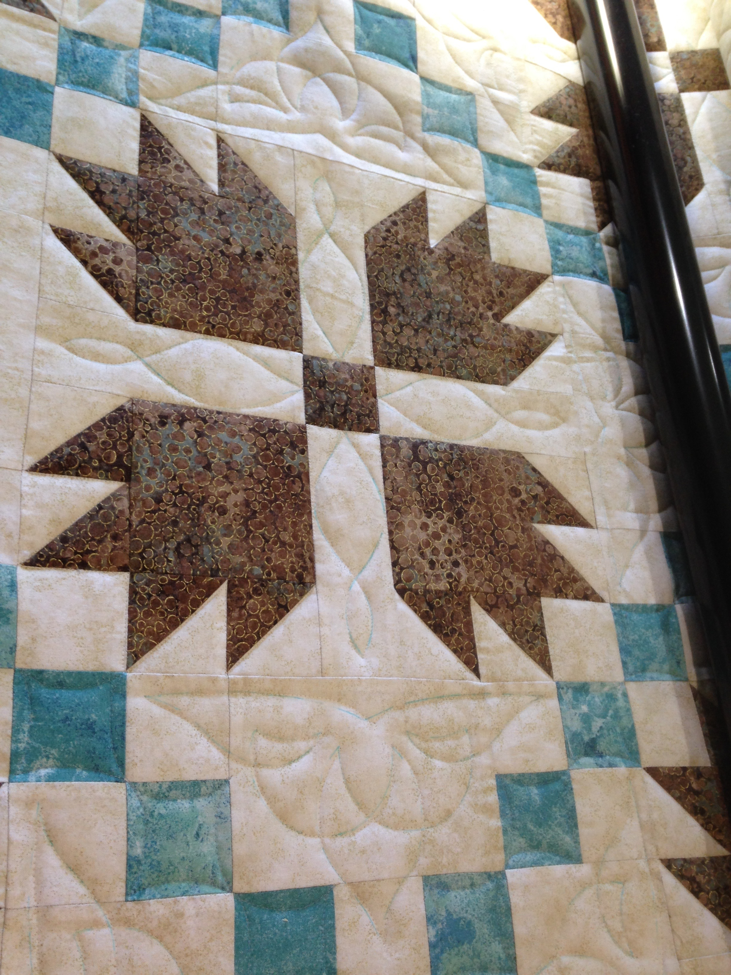 A customer quilt I have been working on for our Quilt Show in the fall.