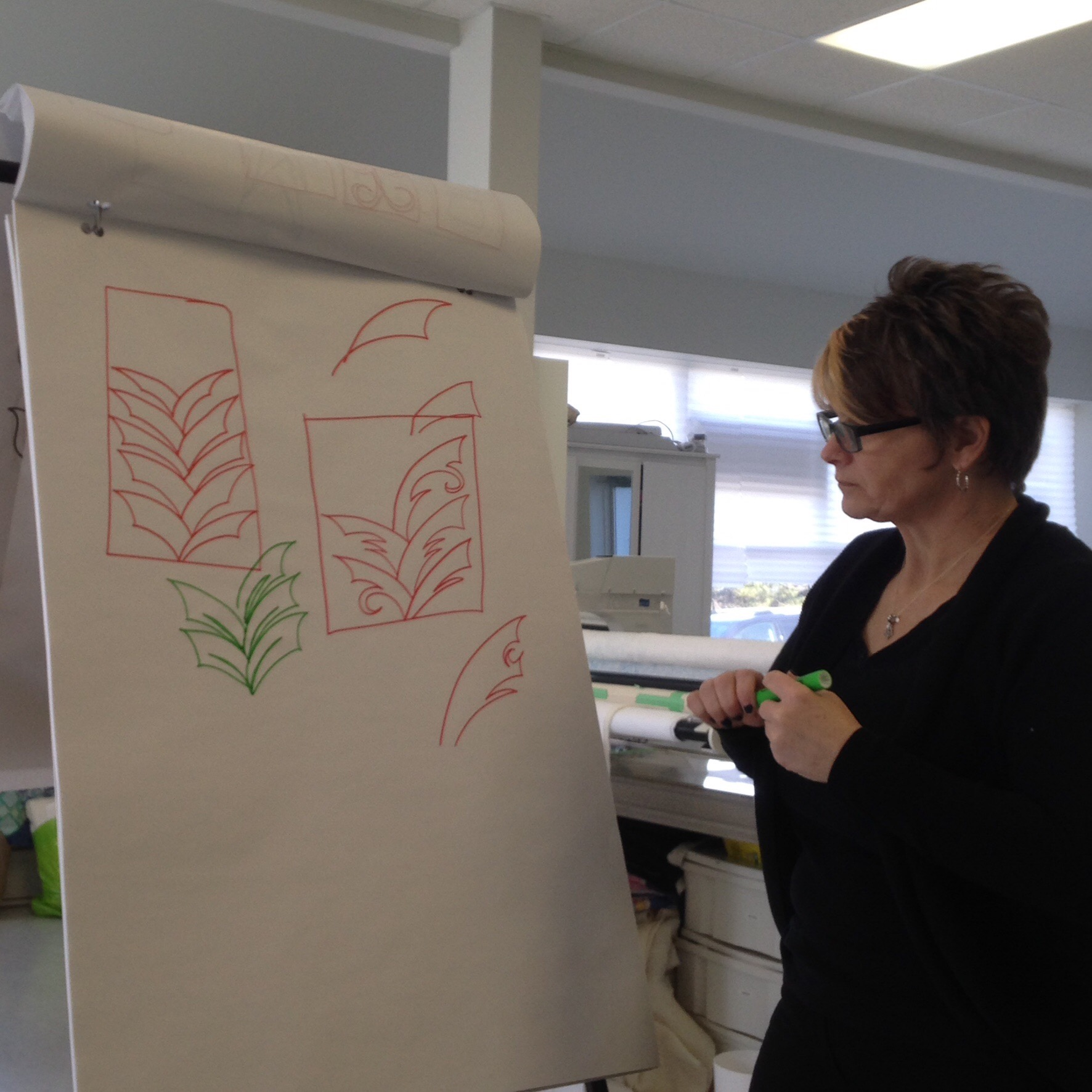 Tracey sketching quilting designs