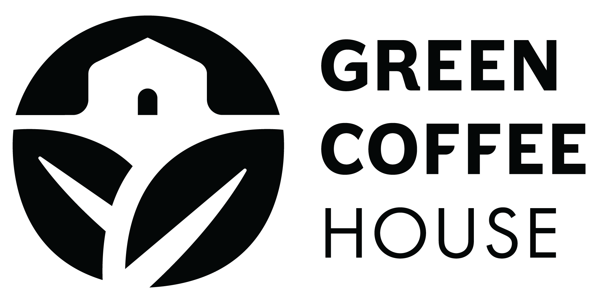 Green Coffee House Stacked (B&W).png