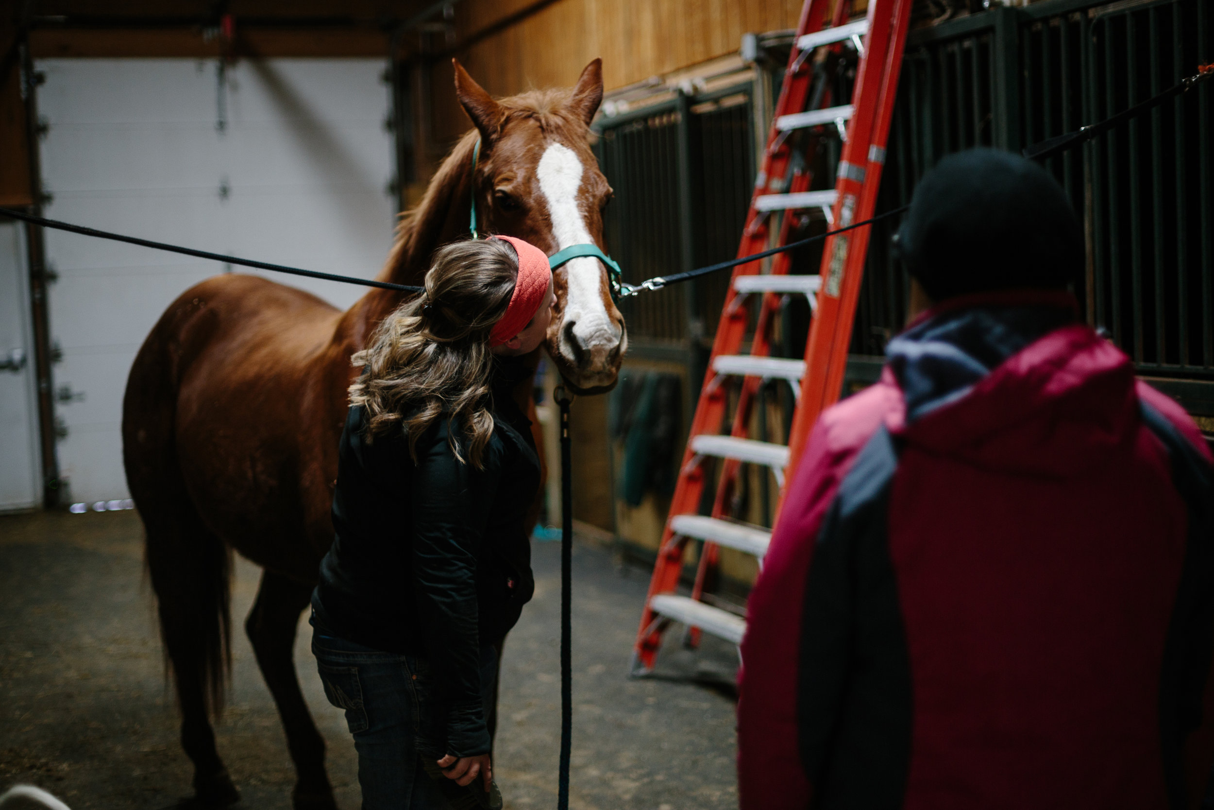 Jess & Shea at the Horse Barn in the Snow - Corrie Mick Photography-17.jpg