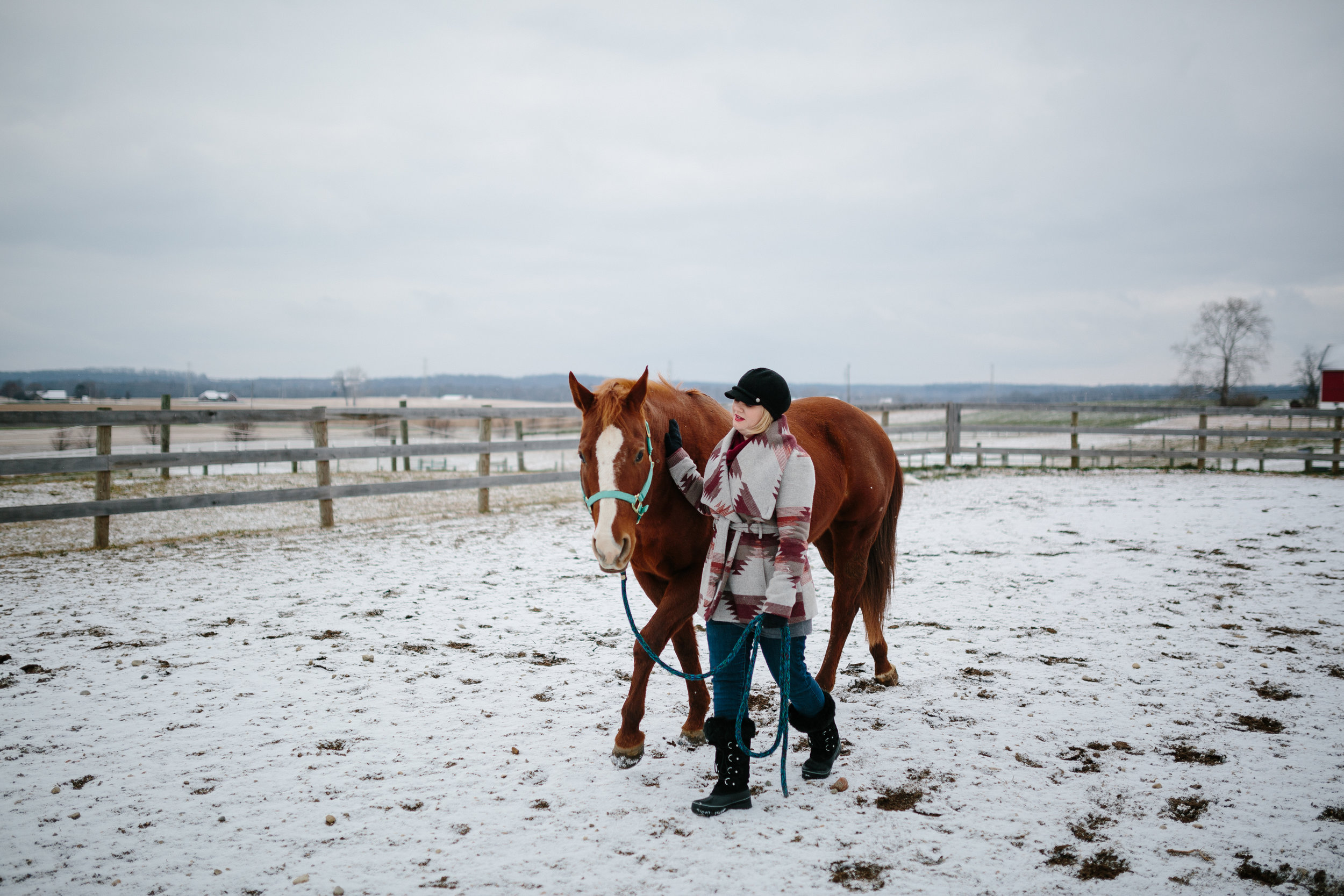 Jess & Shea at the Horse Barn in the Snow - Corrie Mick Photography-97.jpg