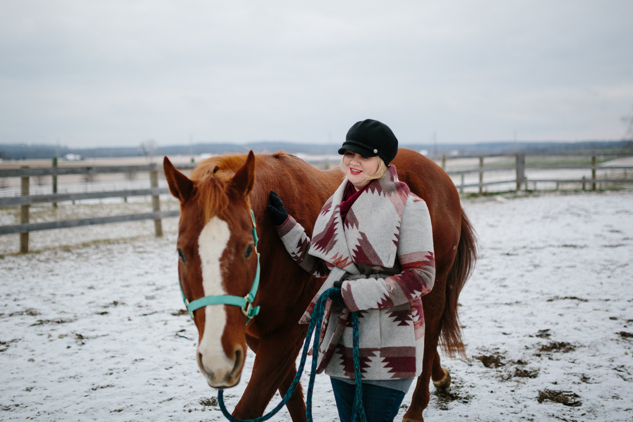Jess & Shea at the Horse Barn in the Snow - Corrie Mick Photography-98.jpg