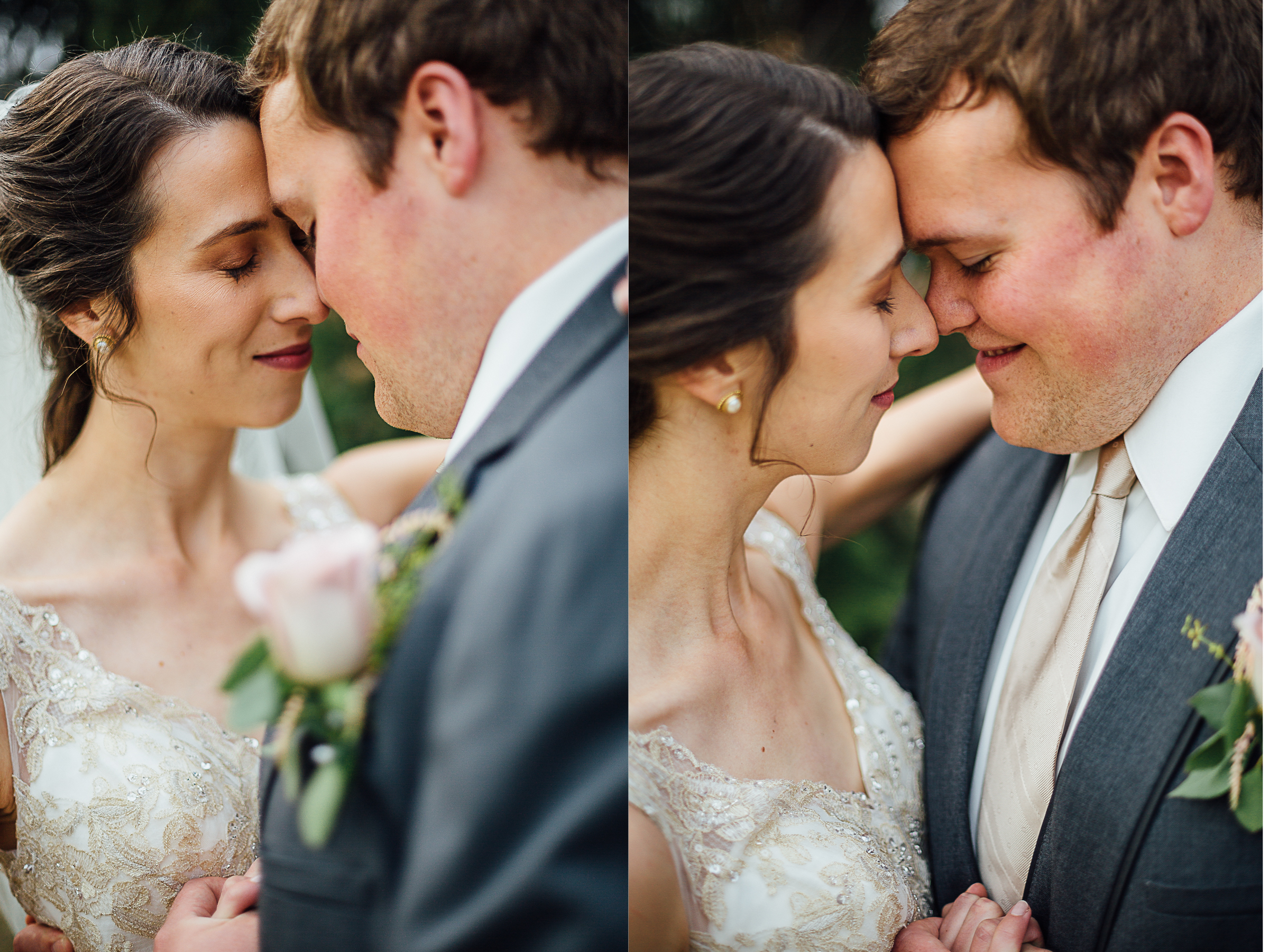 Intimate moment between bride and groom by Corrie Mick Photography.jpg