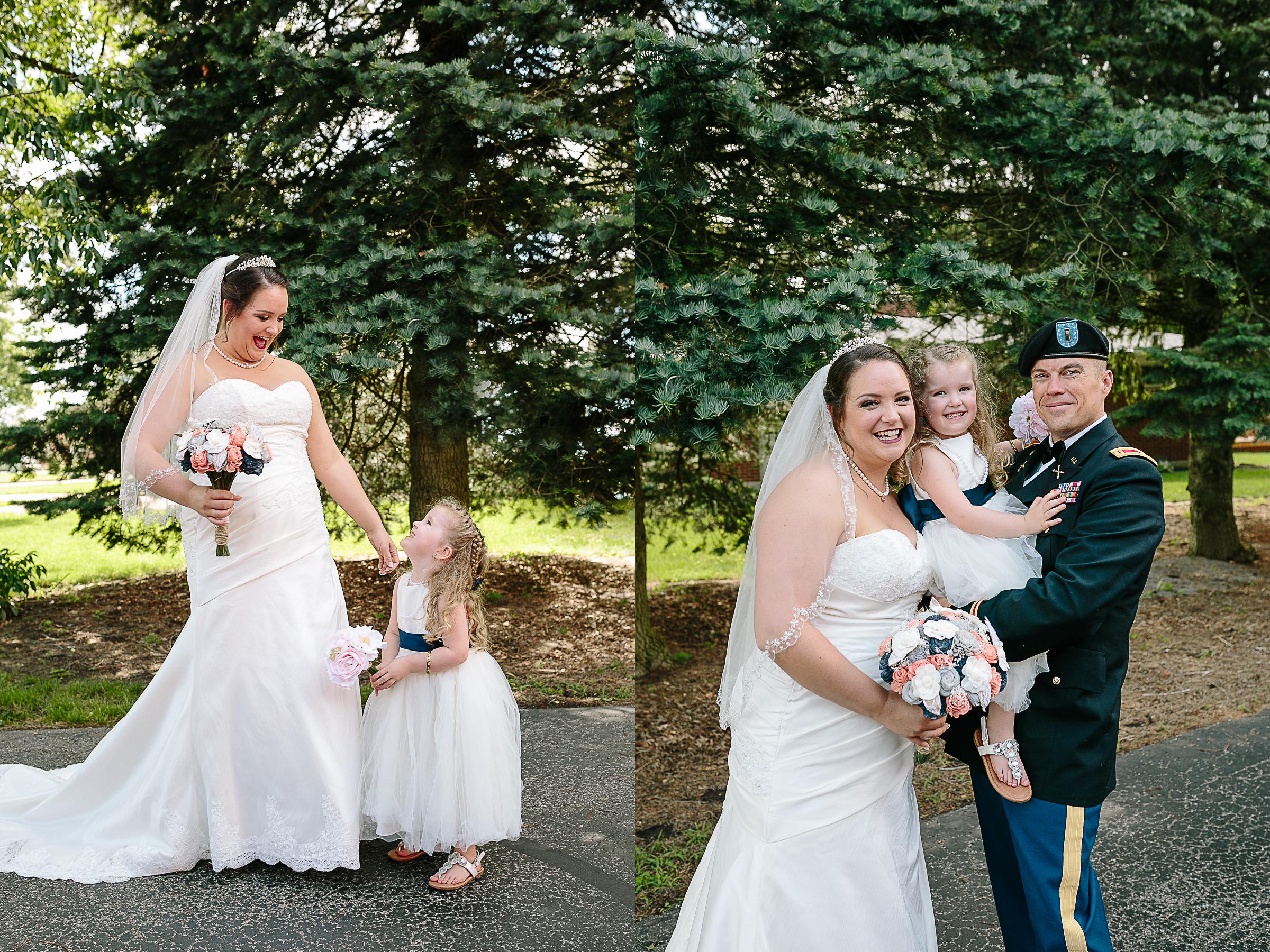 Bride and Groom with Cute Flower Girl Daughter.jpg