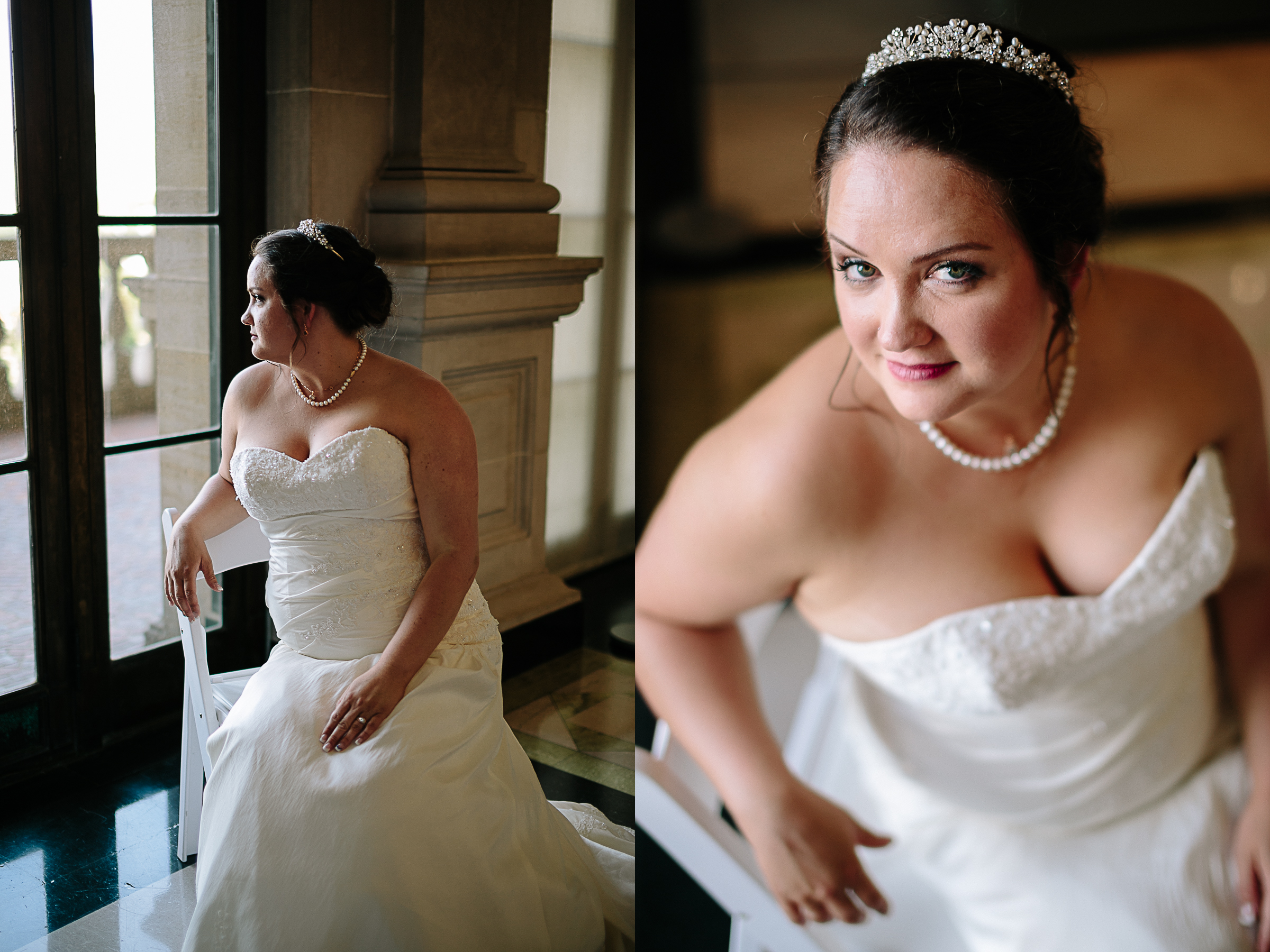 Bride at the Dayton Art Institute by Portland, Oregon Wedding Photographer.jpg
