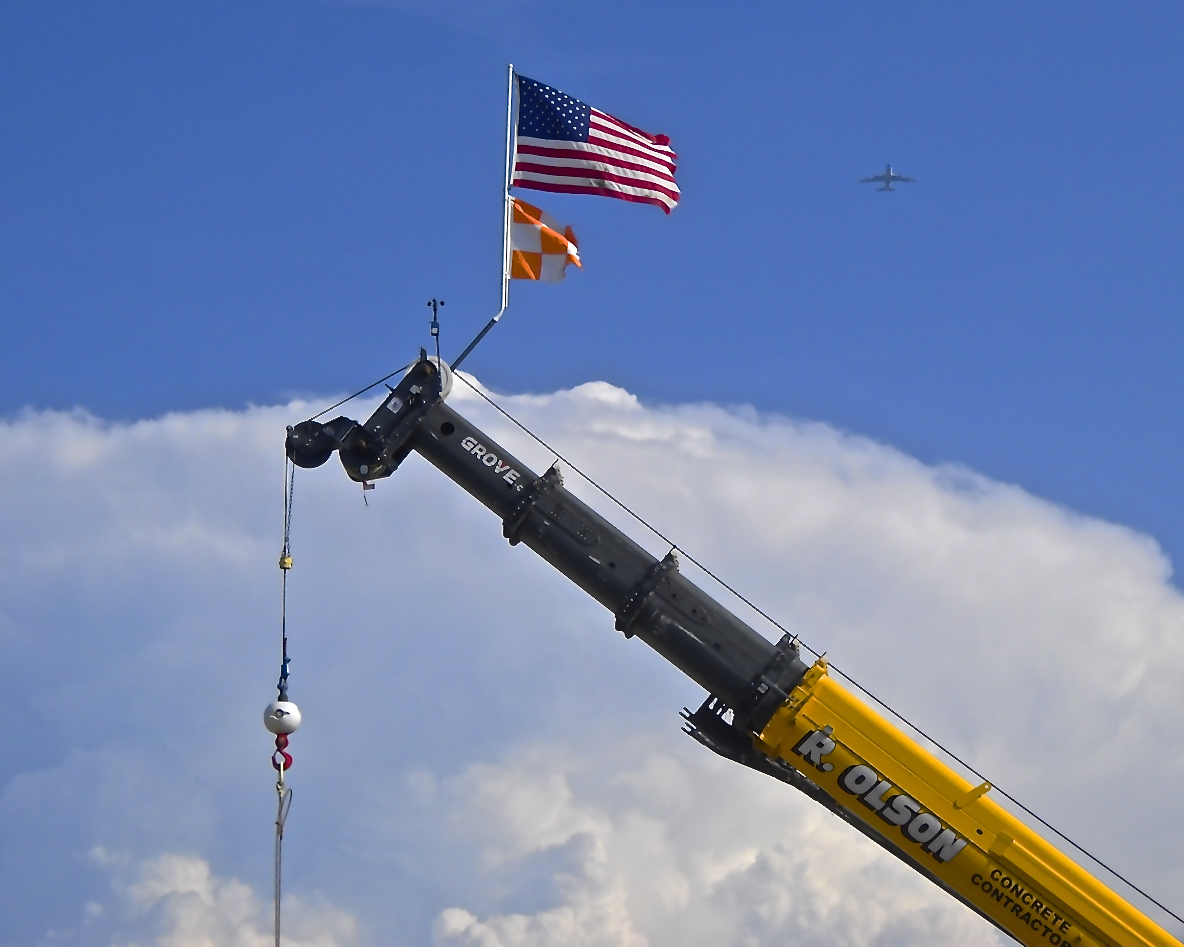 Olson Crane, Flag, and Airplane.jpg