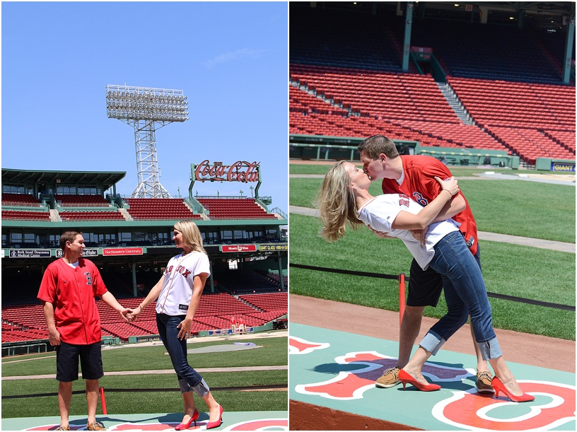 fenway park engagement, fenway park photos, boston engagement photographer, boston wedding photographer, fenway park wedding