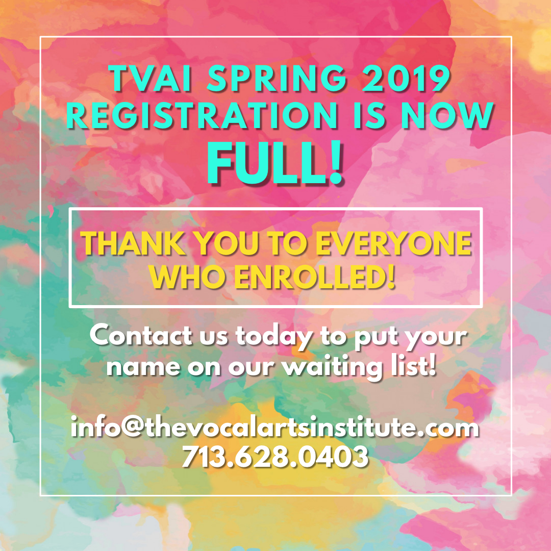 Registration for our spring 2019 semester is complete!  We are excited for another terrific semester!