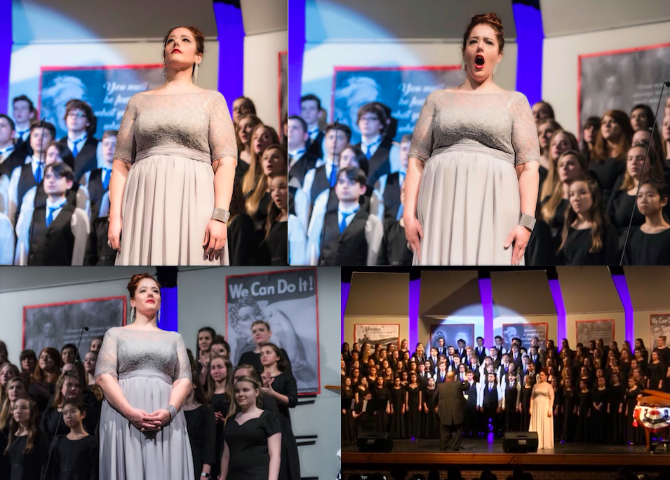 "Photos of Master instructor and owner of TVAI, Jennifer Randall, performing ""Dido's Lament"" in the celebration of Women in Music at Liberty High School in Sykesville, Maryland!"
