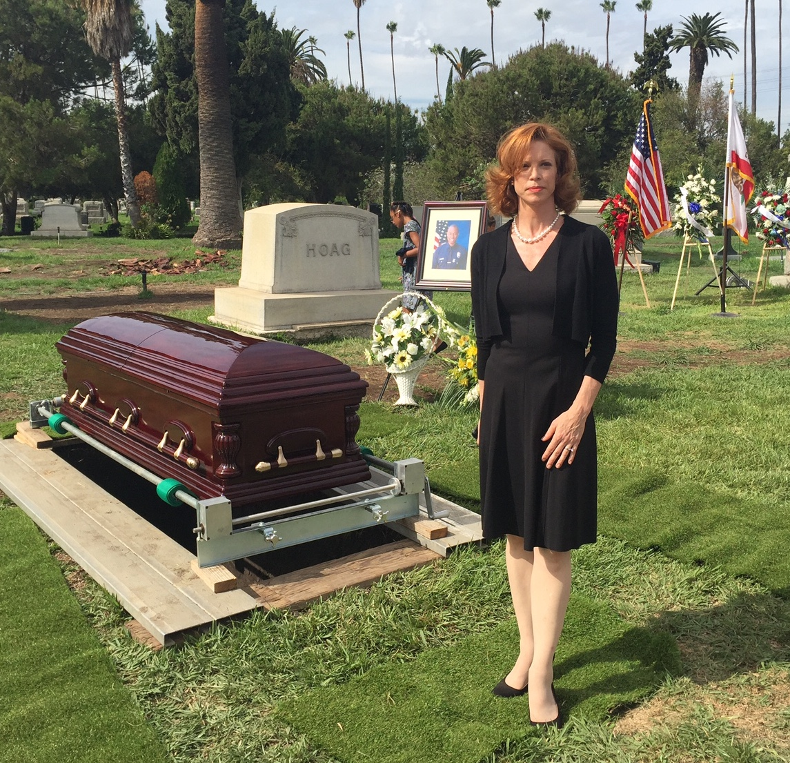 Here to honor the fallen, stand by my husband and .... where IS my husband? (insert sub text)