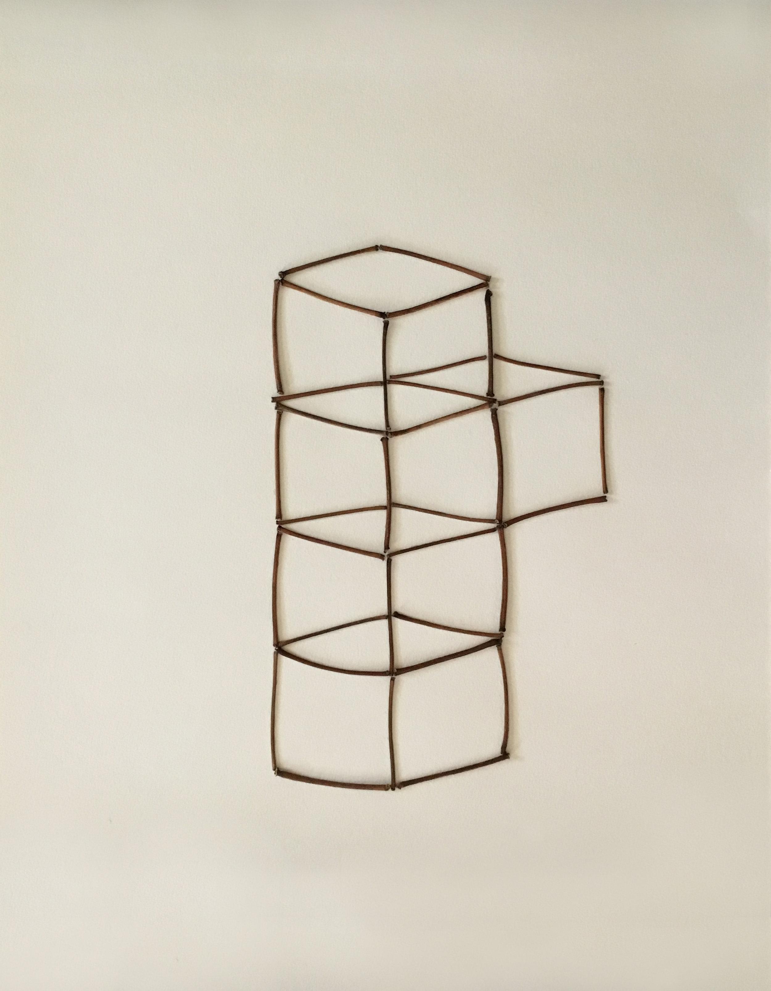 "Untitled   sticks on paper 14"" x 17"""