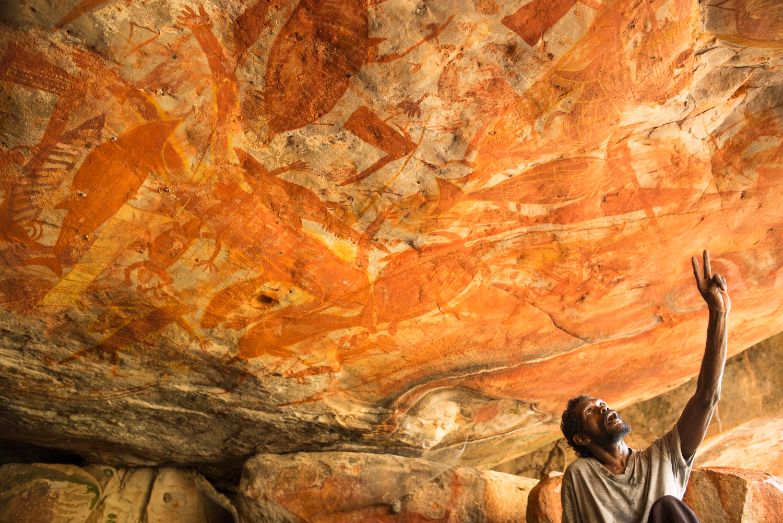Cave paintings, Groote Eylandt.