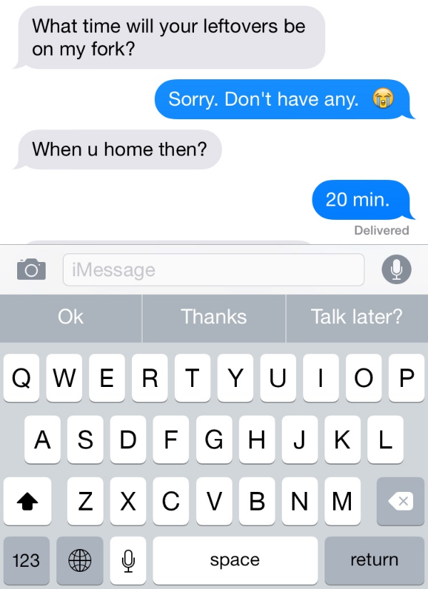 Text Message S.O.S for food