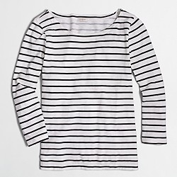 J. Crew Factory Striped Knit Top