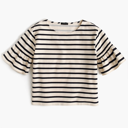 Ruffle-Sleeve Top | J. Crew