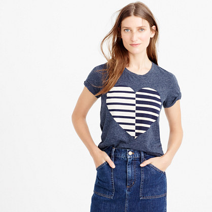 Split Heart T-Shirt | J. Crew