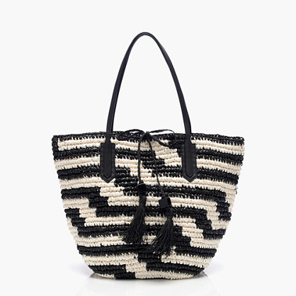 Farmer's Market Tote in Geometric Stripe | J. Crew