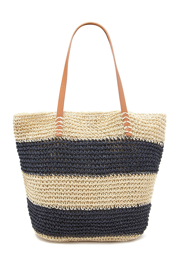 Striped Straw Tote | Forever 21