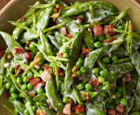 Creamy Spring Peas with Pancetta | Food Network