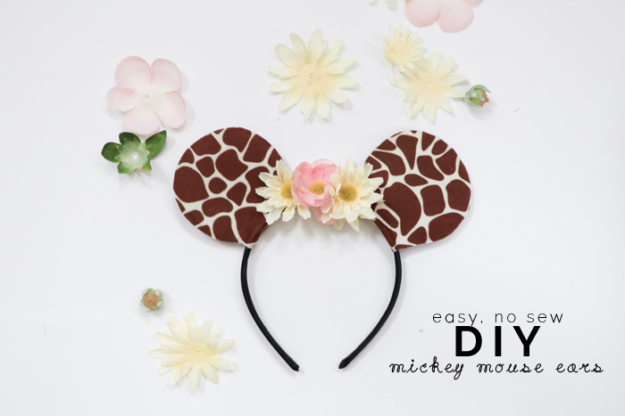 Diy No Sew Mickey Mouse Ears Hollydolly