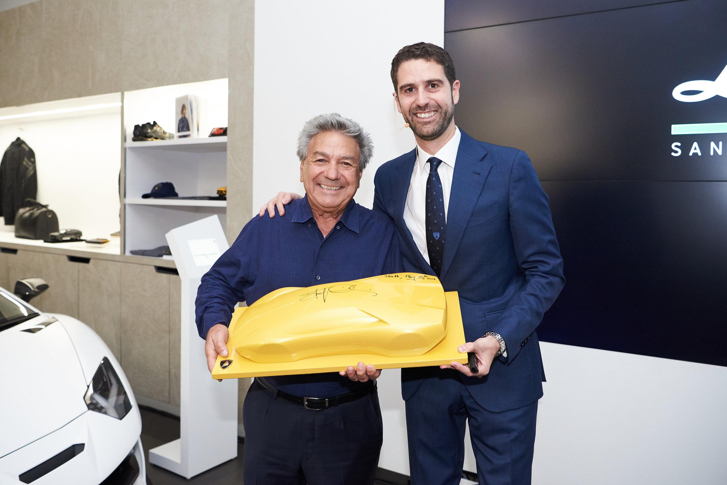 Managing Director of Lamborghini Perth, Alf Barbagallo with Lamborghini Asia Pacific CEO, Matteo Ortenzi.jpg