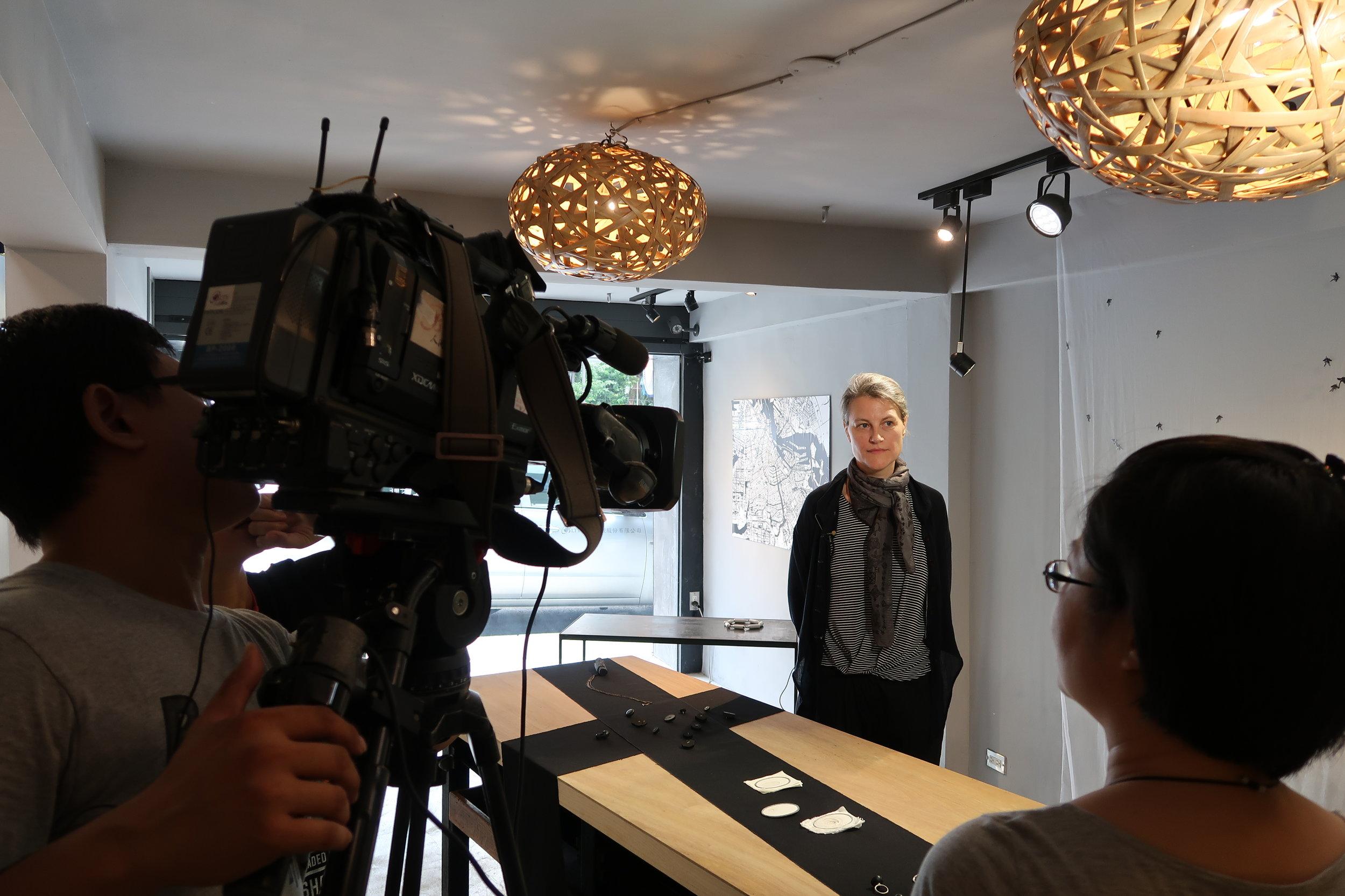 television interview at MANO