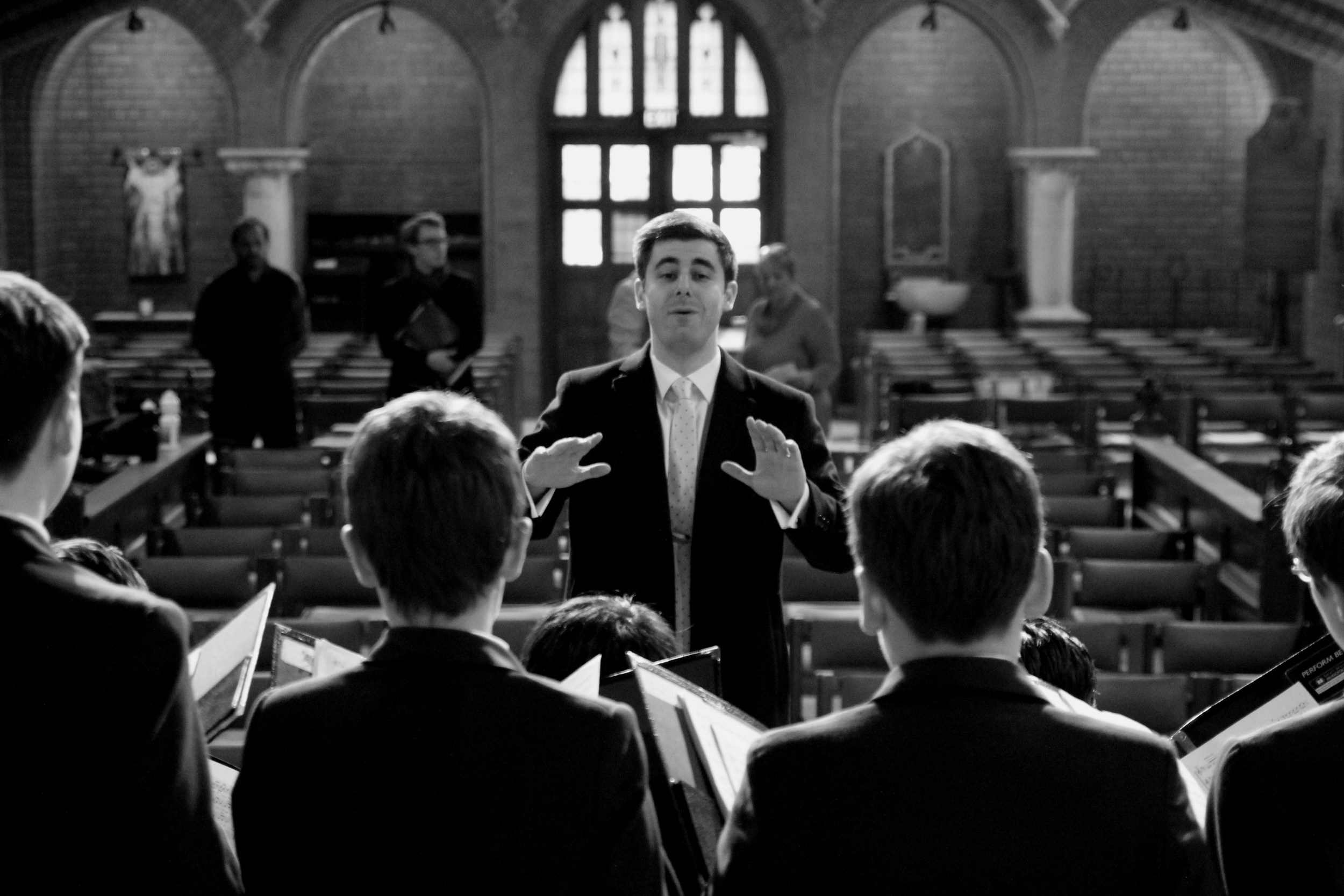 Conducting the Australian Boys Choir at Trinity College