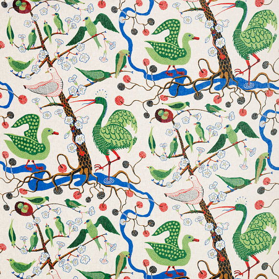 Josef Frank Green Birds