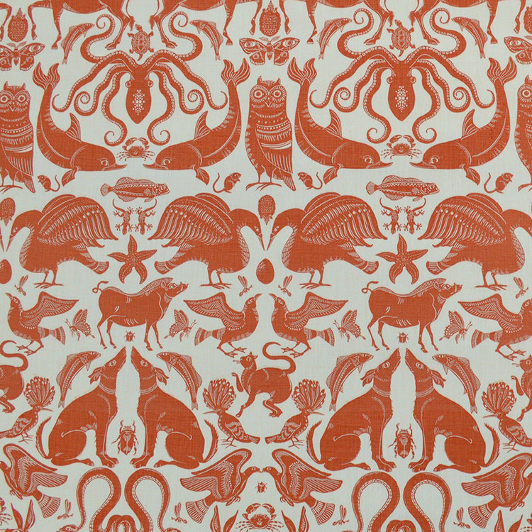 Fanny Shorter Birds Beasts Fabric
