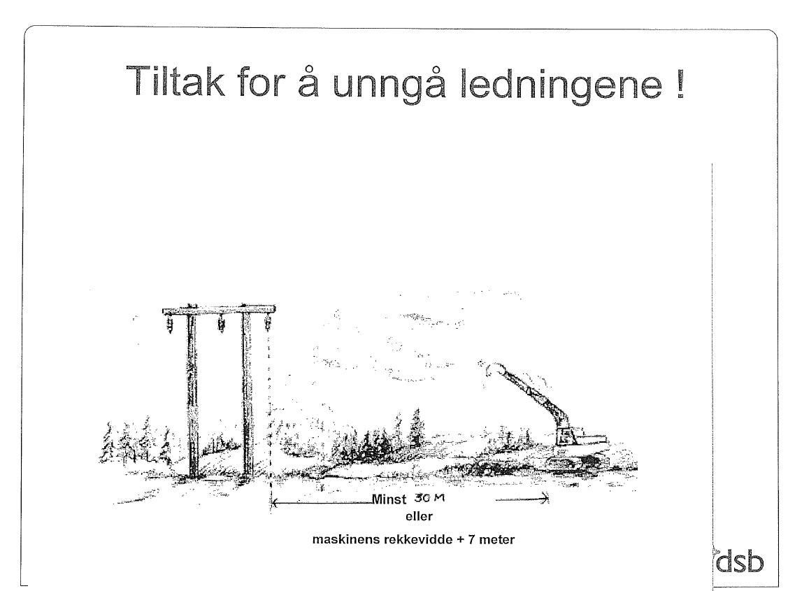 Arbeid innafor 30 meter til høgspent, skal varslast til Kvinnherad Energi.