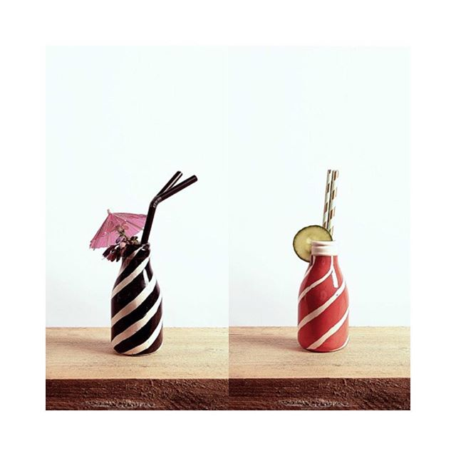 "Sun is out, get your milkshakes on | ""Milkbottle 2 & 3"" from Silva de Majo on Fioray.com 🥤🍹"