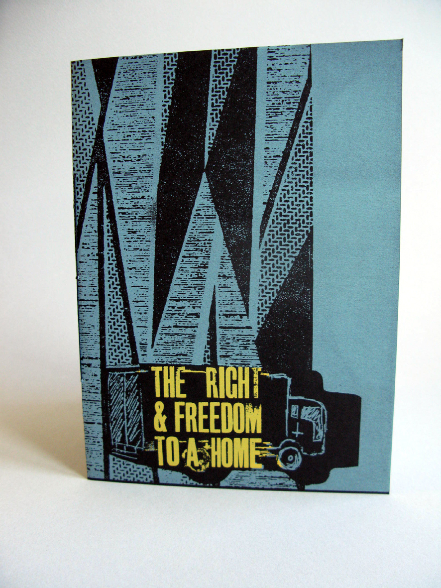 The Right and Freedom to a Home, Front cover. (Image courtesy of Theresa Easton, 2016).