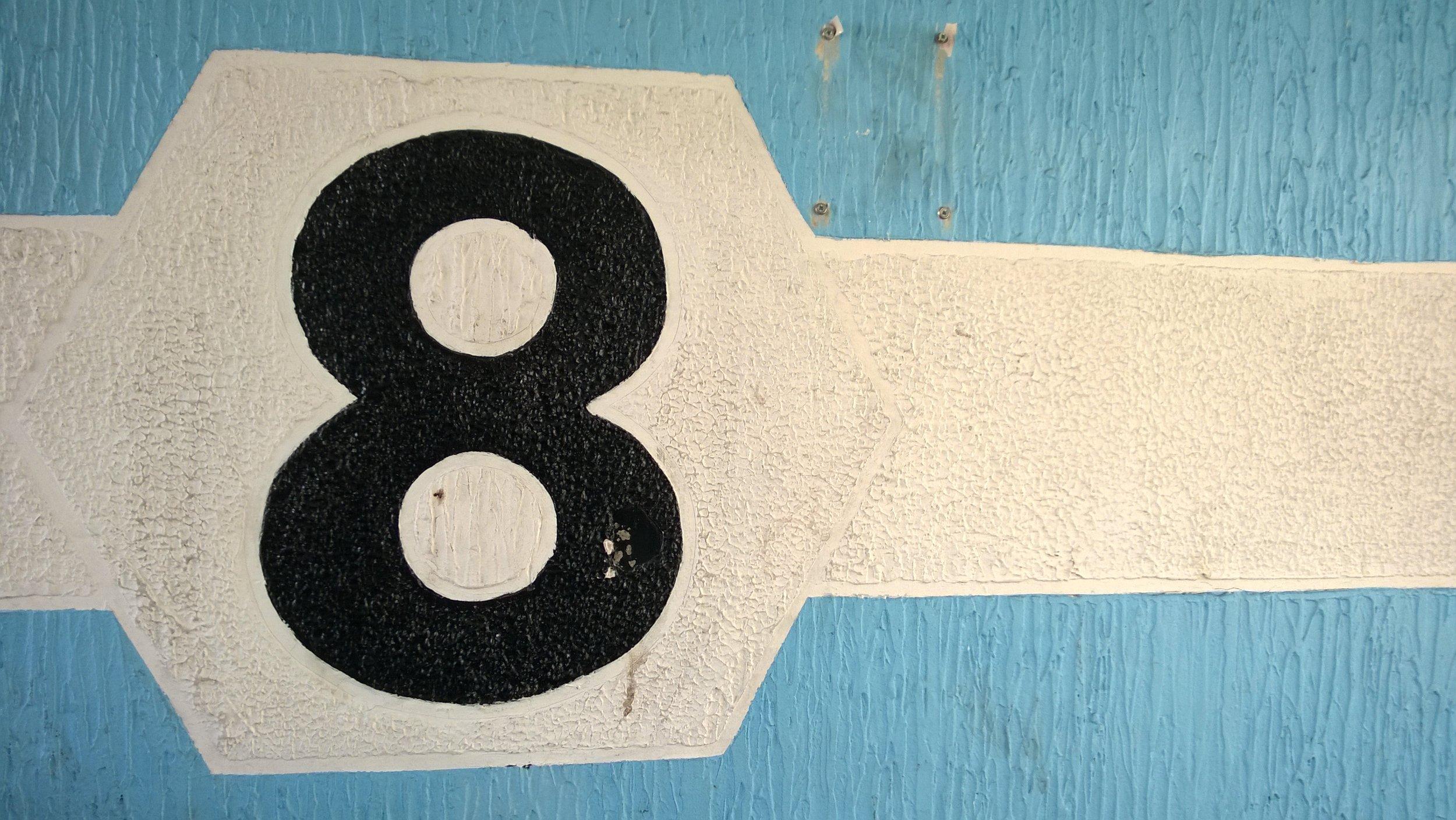 Floor number sign.