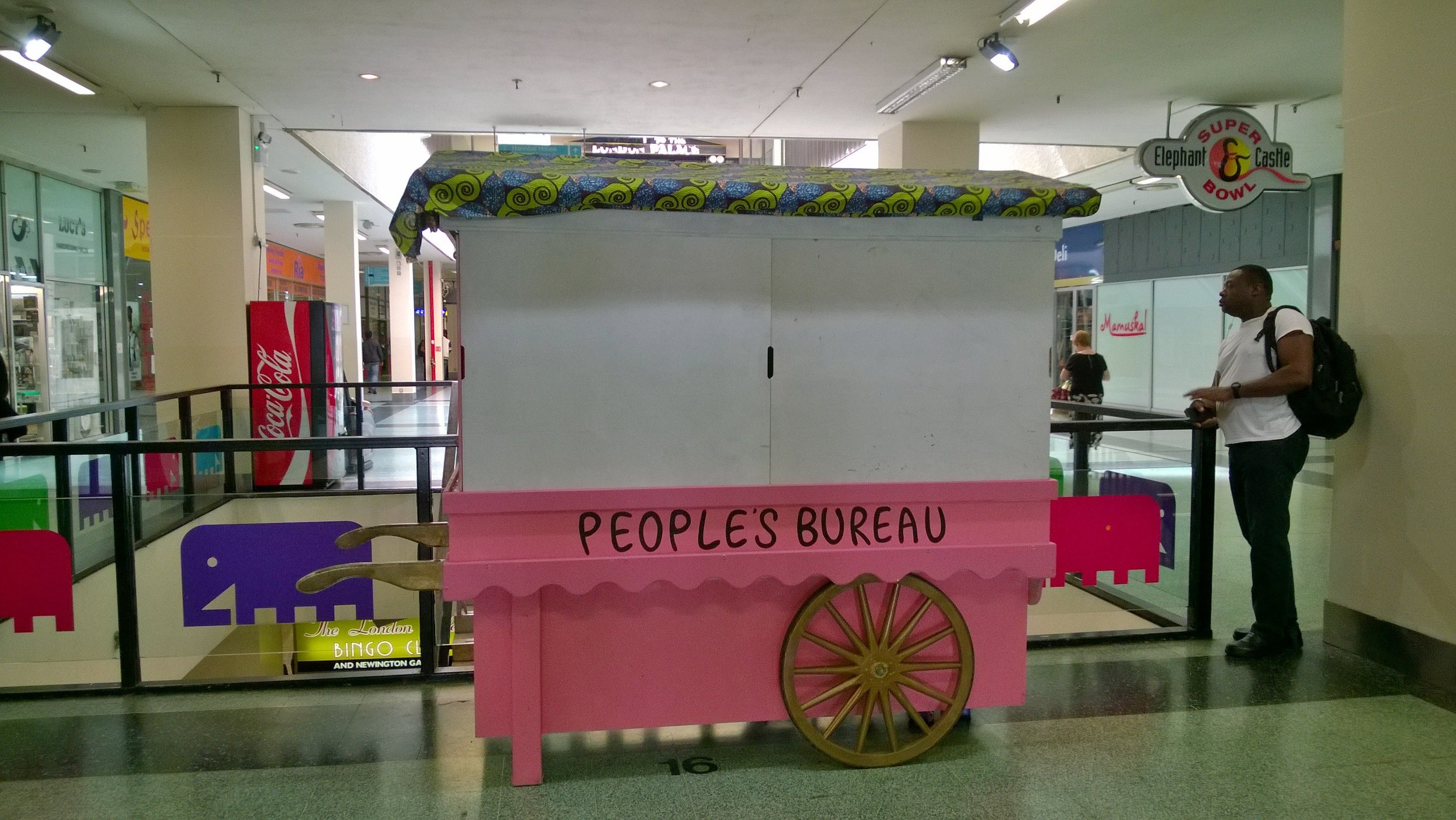 Shut-up People's Bureau in Elephant and Castle Shopping Centre