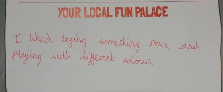 Fun Palaces feedback, 2016
