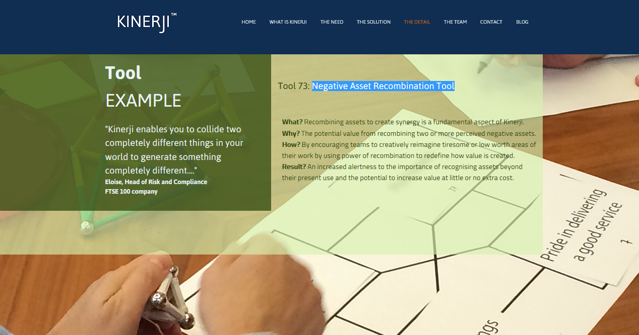 Negative Asset Recombination Tool, Screenshot from Kinerji (Creative Publics) website