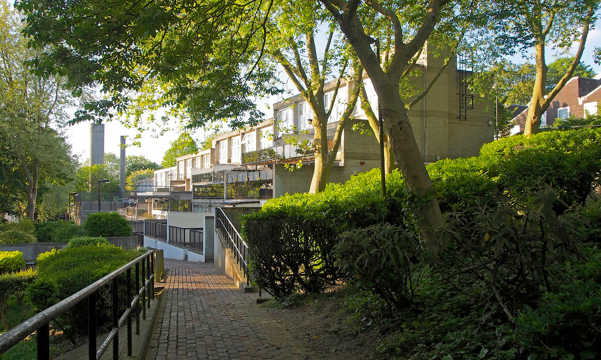 Central Hill in Crystal Palace, London, one of the threatened estates by celebrated council architect Ted Hollamby. Photograph: Simon Elmer/Architects for Social Housing - Taken from  Social housing is good. But let's make it beautiful too  by  Zoe Williams  in The Guardian, 22nd May 2017... The Guardian used this image in an article which praises gentrifying architect Studio Egret West  who are currently working with LondoNewcastle and Poplar HARCA on the socially cleansed Balfron Tower .