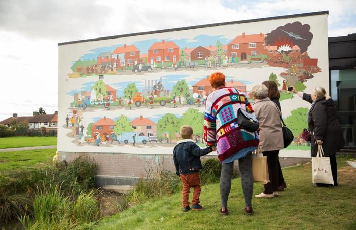 Mural at Valence House, Creative Barking and Dagenham