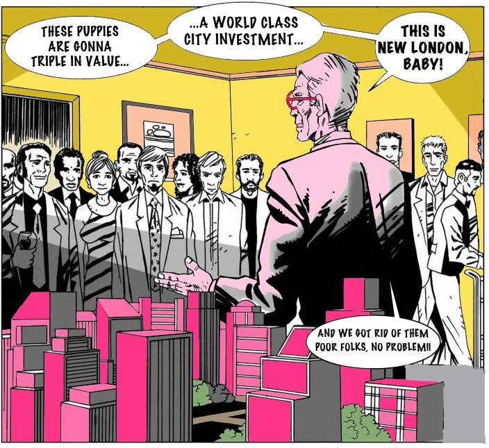 Cartoon courtesy of  Southwark Notes