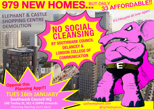 Shopping Centre demo poster courtesy of  Up The Elephant