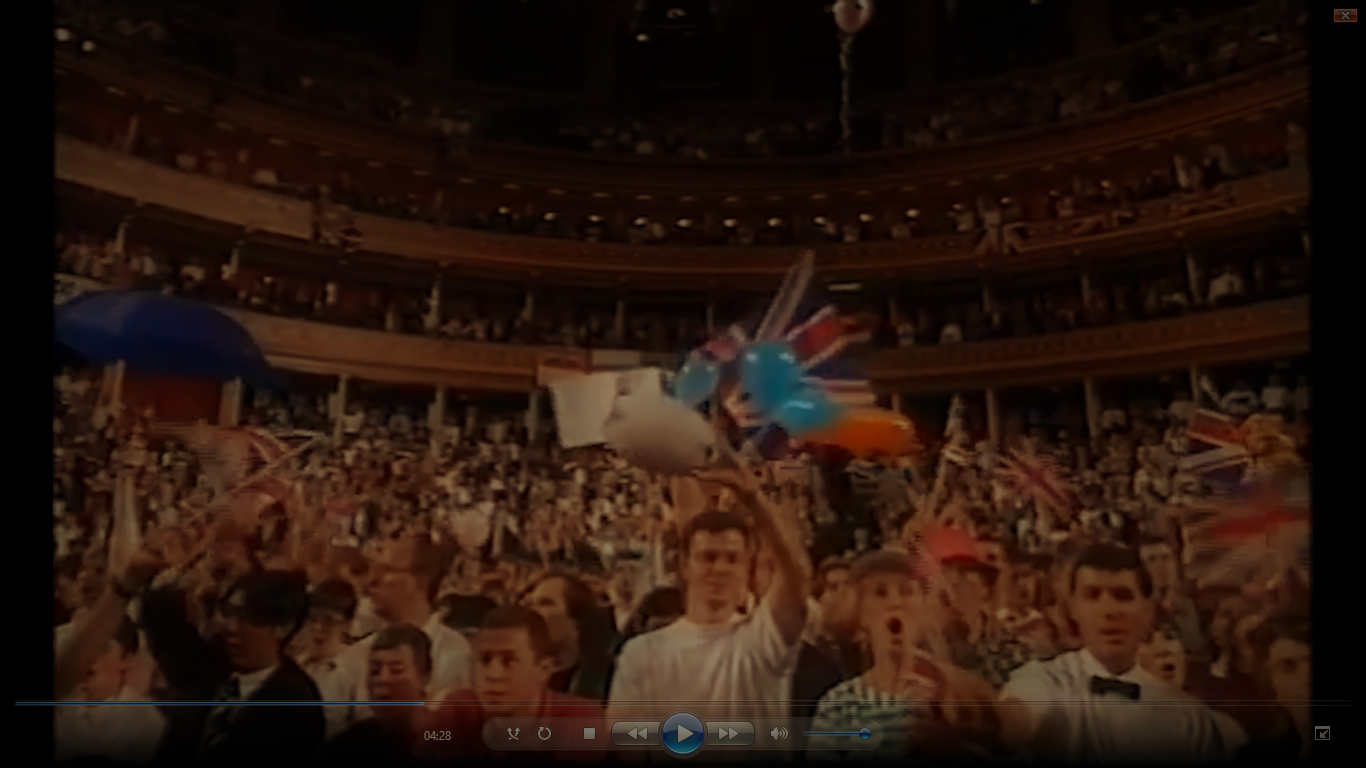 """Loads of Tories waving flags and singing """"Jerusalem"""" at the Last Night of the Proms. A screenshot from the film I made to accompany my talk..."""