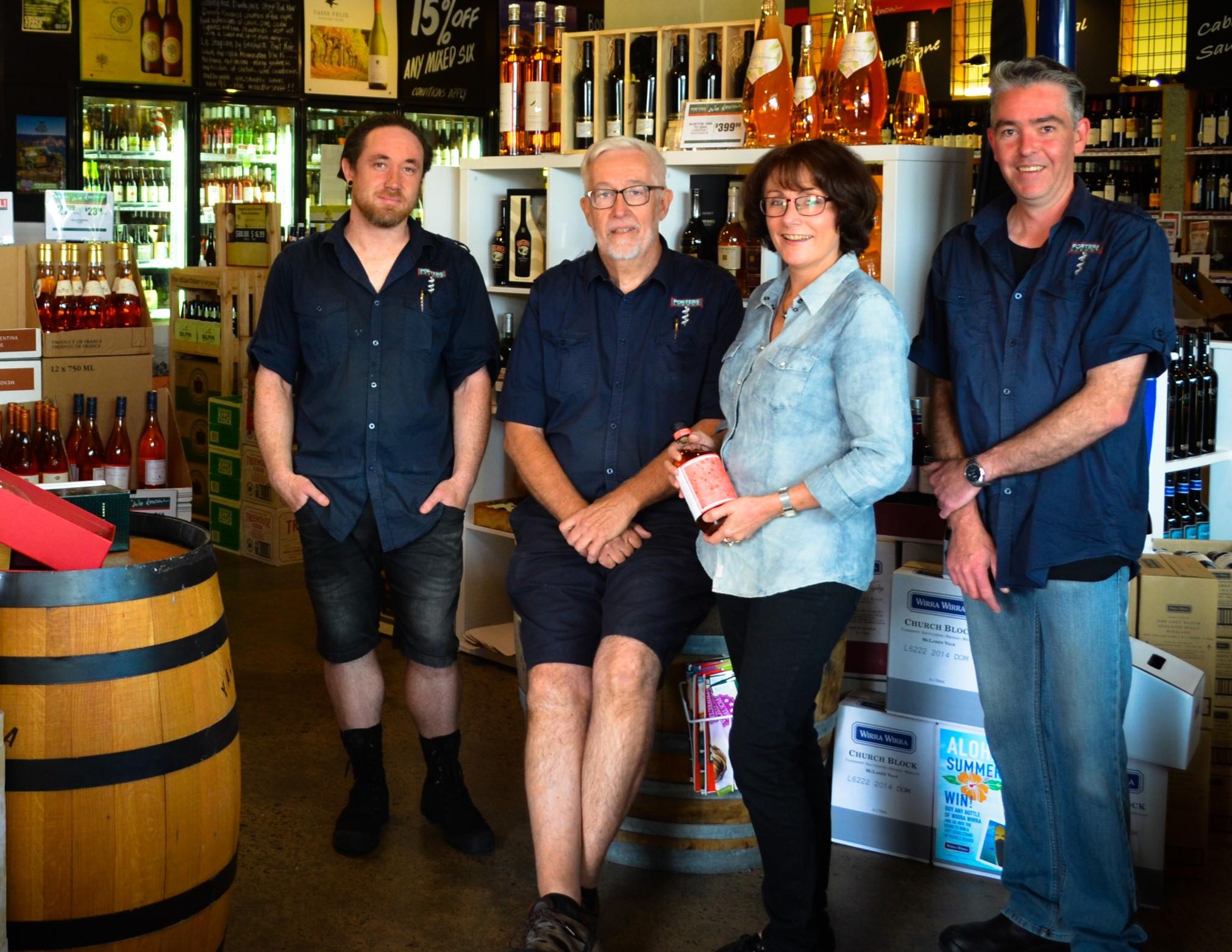 Porter's Team: Jason Hain, Steve Murray, Karen Nicholls and Ian Nicholson